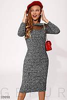 Твидовое классическое платье