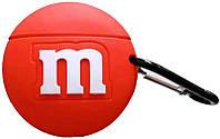 Чехол для наушников Apple AirPods Alitek M&M's Красный + карабин (88628), фото 1