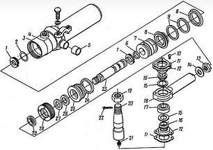 50 Гідроциліндр керма 4085-3429-10 львівського навантажувача