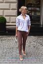 Женская хлопковая белая рубашка классическая 2ru316, фото 2