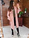 Женское кашемировое Пальто на подкладе под пояс 66pt260Q, фото 2