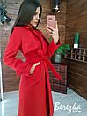 Женское кашемировое Пальто на подкладе под пояс 66pt260Q, фото 3