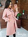 Женское кашемировое Пальто на подкладе под пояс 66pt260Q, фото 8