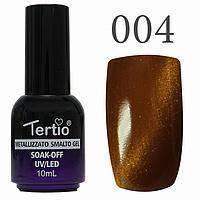 Гель-лак №004 Cat Eyes (коричневый магнитный) 10 мл Tertio