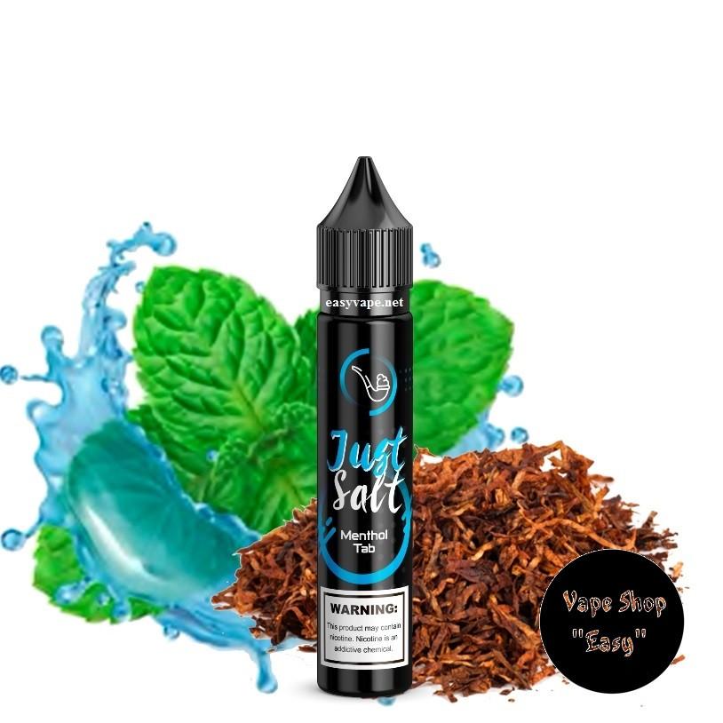 Just Salt Menthol Tab 30 ml Солевая жидкость для под систем, электронных сигарет.