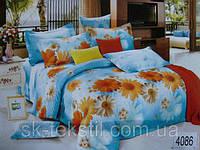 Сатиновое постельное белье семейное ELWAY 4086