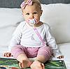 Лента для пустышки с прищепкой BabyOno (Розовая), фото 5