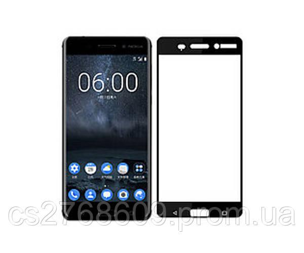 Защитное стекло / Захисне скло Nokia 6 2018, N6 чорний 6D Full