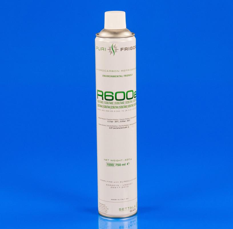 Фреон R600a в баллоне 750ml/420g (белый)