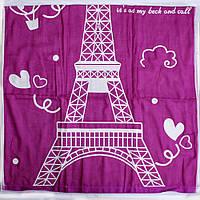Качественное полотенце банное 100% хлопок с Эйфилевой башней
