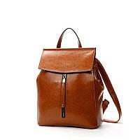 Женский стильный рюкзак-сумка из натуральной кожи, коричневый, фото 1