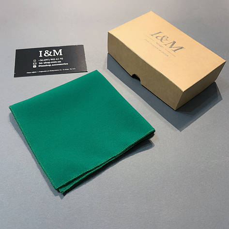 Платок нагрудный I&M Craft изумрудный (011148P), фото 2