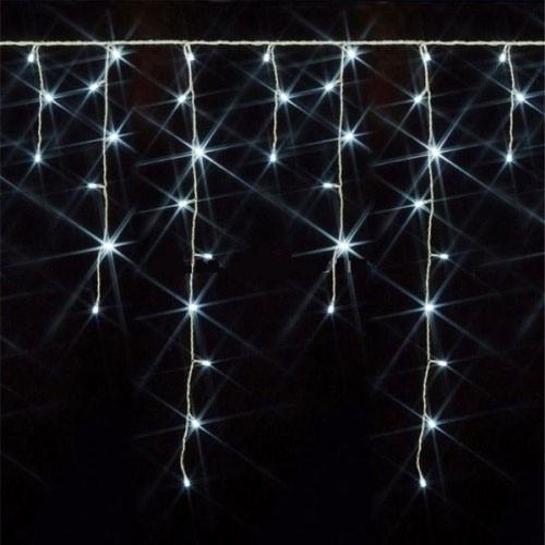 Гирлянда Бахрома, 200 led, белая, прозрачный провод, 5,5м.