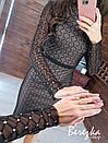 Платье - футляр из узорной сетки на подкладе с длинным рукавом и длиной миди 66py353Q, фото 2