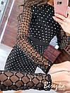 Платье футляр из сетки с блестками на подкладе с длинным рукавом 66py359Е, фото 8
