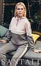 Ангоровый женский спортивный костюм с люрексом и худи 45so810, фото 2