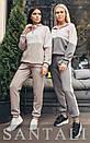 Ангоровый женский спортивный костюм с люрексом и худи 45so810, фото 3