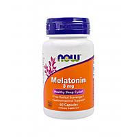 Now Foods, Мелатонин 3 мг, 60 капсул