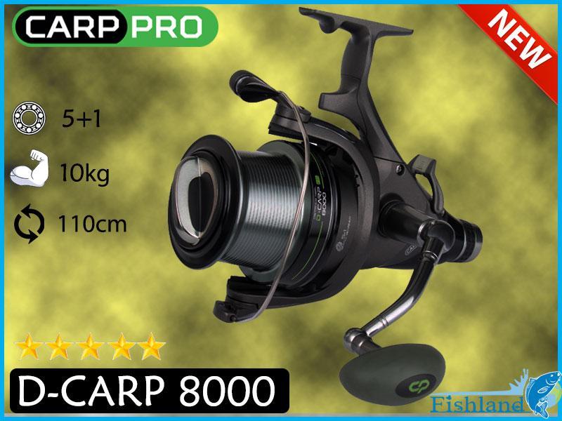 Катушка карповая с байтраннером Carp Pro D-Carp Carp 8000 FS