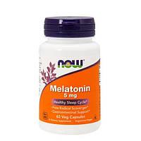 Now Foods, Melatonin, 5 mg Veg, 60 капсул