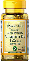 Вітамін D3 Puritans Pride - Vitamin D3 5000 IU (100 softgels)