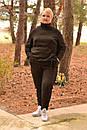 Ангоровый женский костюм в больших размерах со шнуровкой по бокам 10ba362, фото 2
