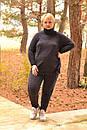 Ангоровый женский костюм в больших размерах со шнуровкой по бокам 10ba362, фото 3