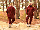 Ангоровый женский костюм в больших размерах со шнуровкой по бокам 10ba362, фото 4
