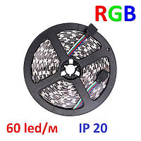 Светодиодная лента 12V smd5050 ІР20 RGB 60led негерметичная