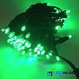 Светодиодная гирлянда String Нить 10flash 10м 100LED Каучук PROF Зеленый, фото 3