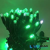 Светодиодная гирлянда String Нить flash 10м 100LED Каучук PROF Зеленый, фото 1