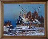 Картина Зима масло,холст 50х40 см