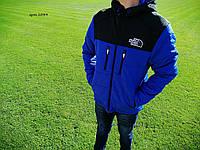 Куртка чоловіча в стилі   The North Face синя з чорним (ТОП Якість)