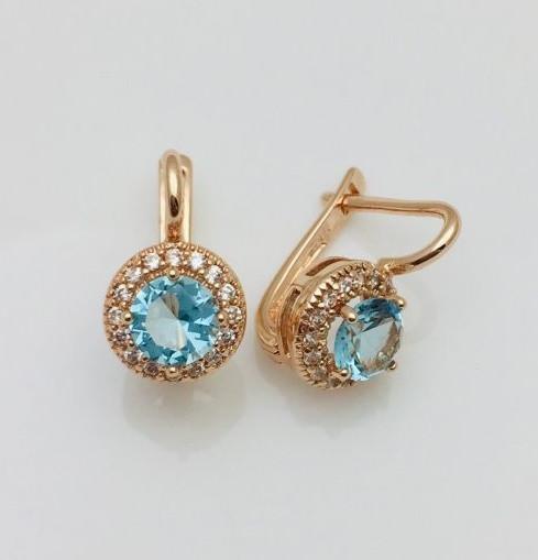 Женские серьги, сережки  Fallon Гран-При голубые