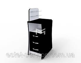 Маникюрный стол с оригинальной столешницей Елегант компакт М104К