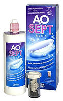Раствор для линз Aosept Plus HydraGlade 360ml + контейнер