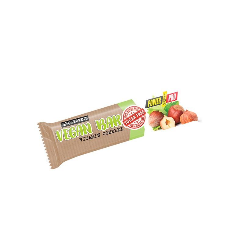 Power Pro Vegan Bar Без сахара 32%, 20х60г