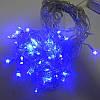 Гирлянда Бахрома, 120 led, голубая, прозрачный провод, 3м., фото 3