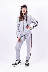 Спортивный костюм, серый меланж рост 116-146