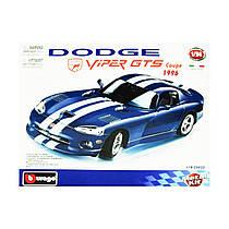 Авто-конструктор - DODGE VIPER GTS COUPE (1996) (синій, 1:24)
