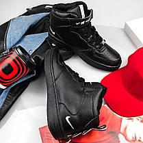 """Зимние кроссовки на меху  Nike Utiliti High """"Черные"""", фото 3"""