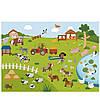 Набор многоразовых наклеек животный мир MiDeer   с игровыми полями, фото 5