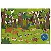 Набор многоразовых наклеек животный мир MiDeer   с игровыми полями, фото 4