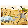 Набор многоразовых наклеек животный мир MiDeer   с игровыми полями, фото 3