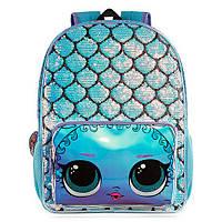 Рюкзак Детский LOL Большой Лол с Пайетками Текстиль Голубой