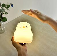 Силиконовый ночник 3DTOYSLAMP Пингвин Белый