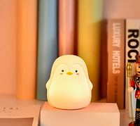 Силиконовый ночник 3DTOYSLAMP Пингвин Серый