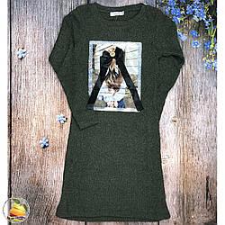 Сукня в рубчик для дівчинки підлітка (Зелений) Розміри: 9-10,10-11,12-13,13-14 років (9284-1)