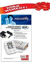 Автоматический тонометр MICROLIFE BP A2 Classic + зарядка для сети 6 V +манжета Lux 22-42см