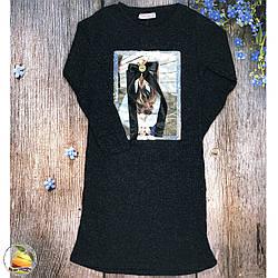 Платье в рубчик для девочки подростка (Темно синий) Размеры: 9-10,10-11,12-13,13-14 лет (9284-3)